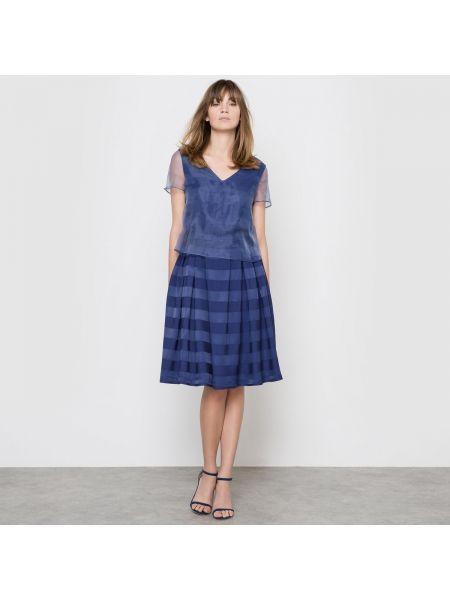 Вечернее платье мини с V-образным вырезом Mademoiselle R