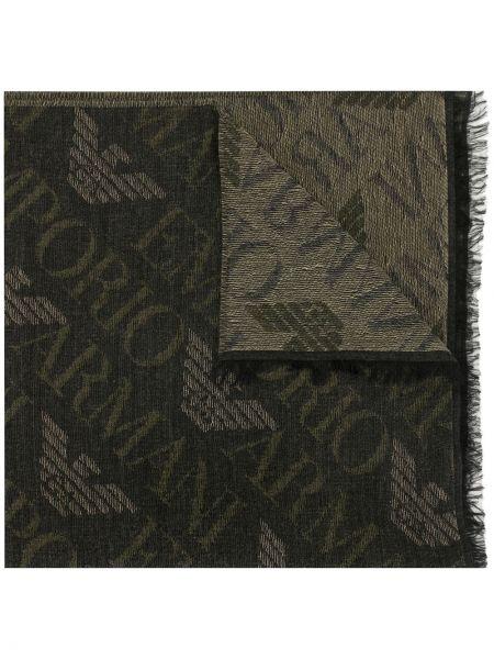 Zielony szalik z wiskozy wojskowy Emporio Armani