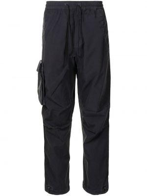 Черные брюки с накладными карманами Maharishi
