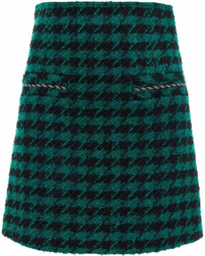 Шерстяная юбка мини - зеленая Sandro