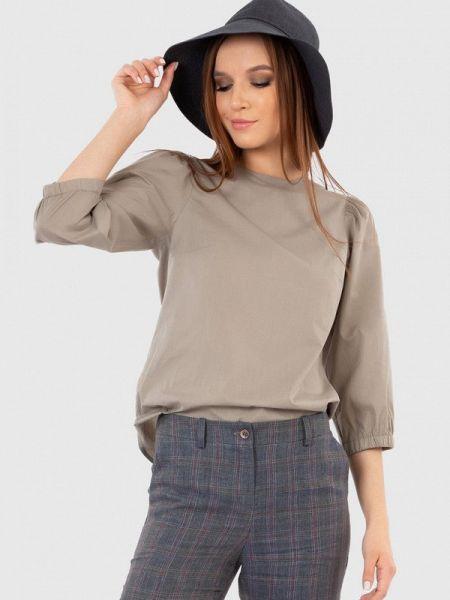 Серая блузка с длинным рукавом энсо