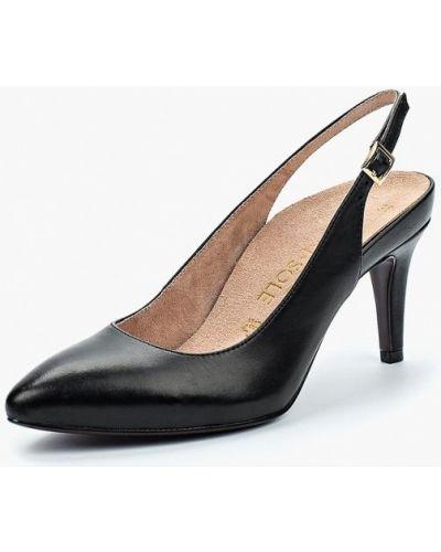 Туфли на каблуке черные кожаные Heart & Sole By Tamaris
