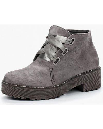 Серые ботинки на каблуке Vh