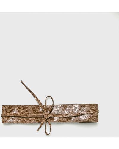 Бежевый ремень кожаный Answear