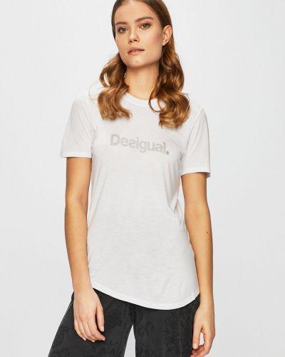 Спортивная футболка белая эластичный Desigual Sport