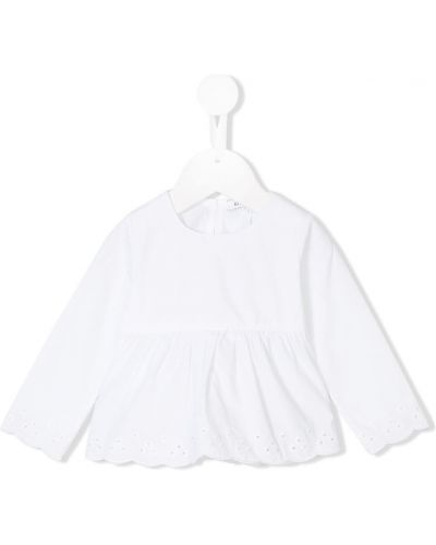 Biała tunika bawełniana z haftem Knot