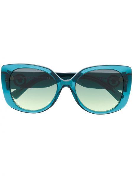 Солнцезащитные очки хаки металлические оверсайз Versace Eyewear