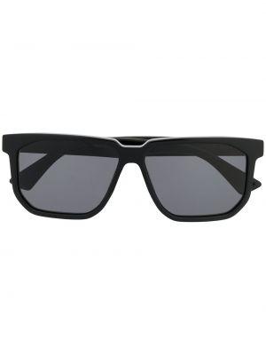 Черные солнцезащитные очки прямоугольные Bottega Veneta Eyewear