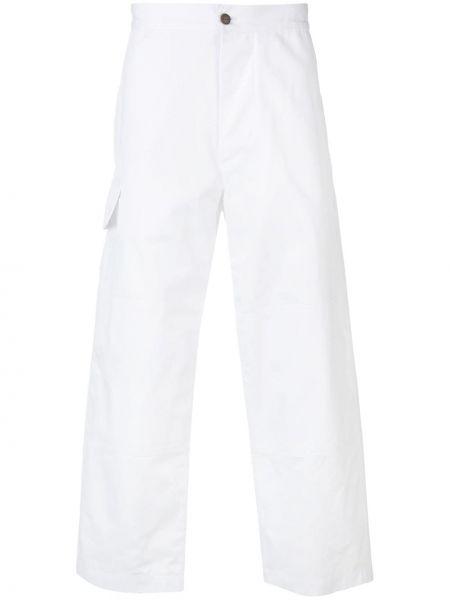 Spodni biały przycięte spodnie z kieszeniami bezpłatne cięcie Jacquemus