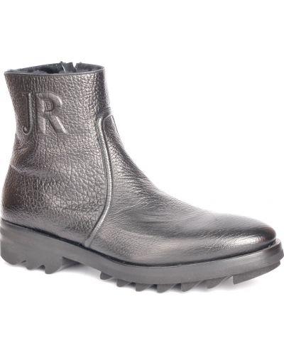 Кожаные ботинки осенние черные John Richmond