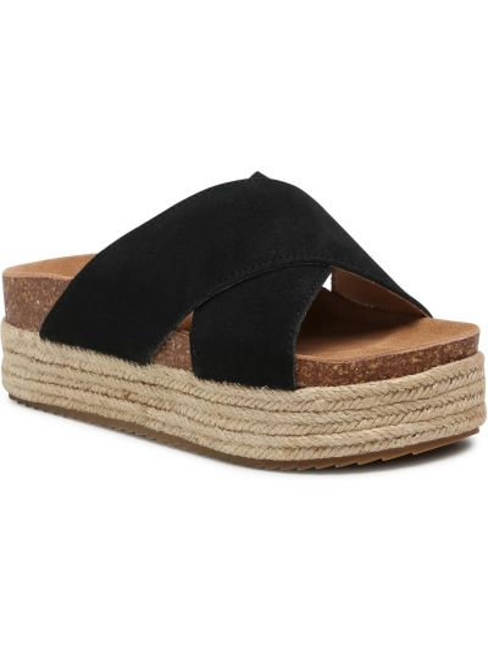 Czarne sandały zamszowe Xti