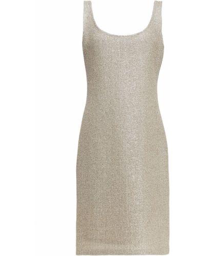 Шерстяное платье - золотое St. John