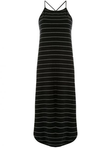 Хлопковое платье миди - черное Taylor