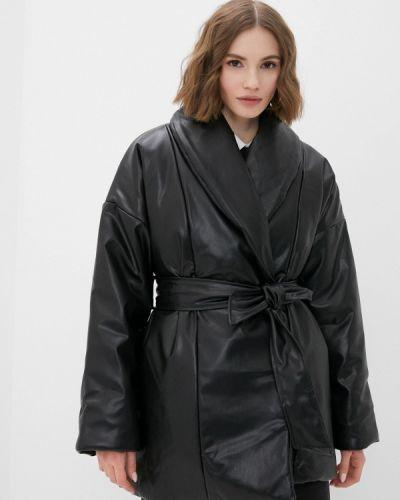 Черная кожаная куртка Imocean