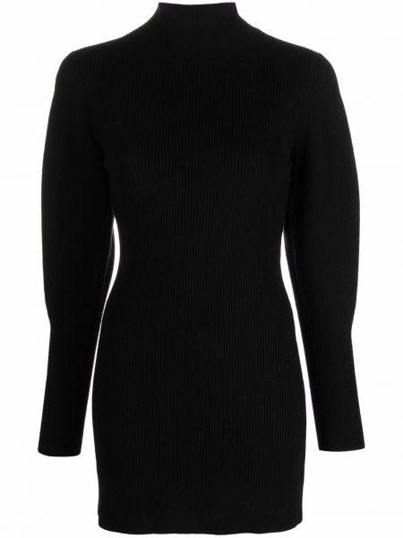 Платье макси с длинными рукавами - черное Amen.