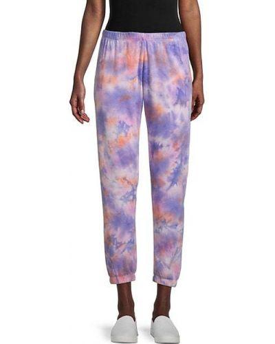 Фиолетовые хлопковые брюки с манжетами Spiritual Gangster