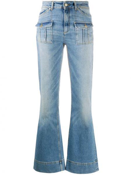 Хлопковые синие джинсы с карманами на молнии Dorothee Schumacher
