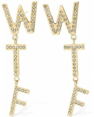 Szare złote kolczyki sztyfty Bijoux De Famille