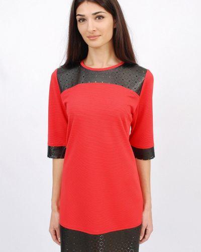 Прямое красное платье А-силуэта Sab