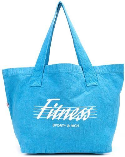 Хлопковая косметичка для фитнеса с принтом Sporty And Rich