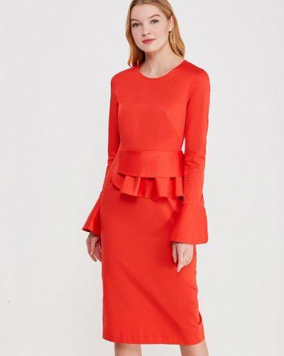 Красное платье-футляр Pepen