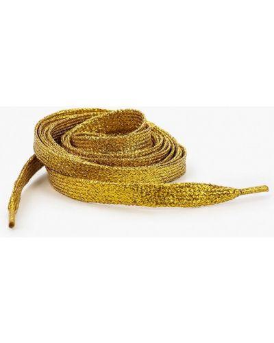 Шнурки на шнурках золотые красная жара
