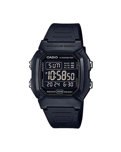 Акриловые черные с ремешком часы водонепроницаемые Casio