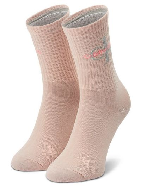 Różowe skarpety Calvin Klein Jeans