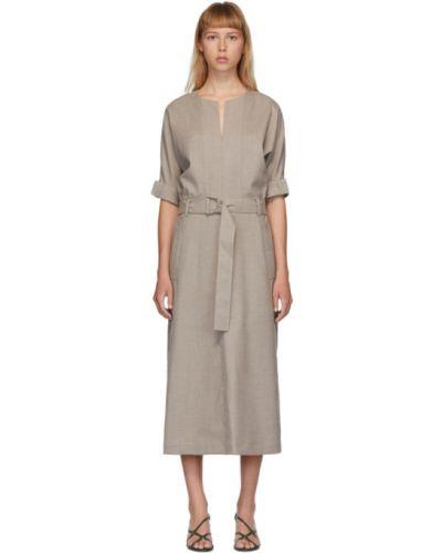 Платье с поясом с отложным воротником из вискозы 3.1 Phillip Lim