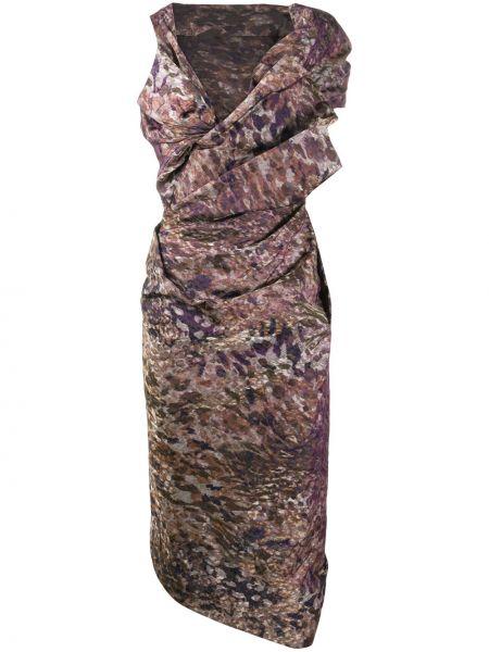Коричневое платье без рукавов с вырезом Vivienne Westwood Red Label