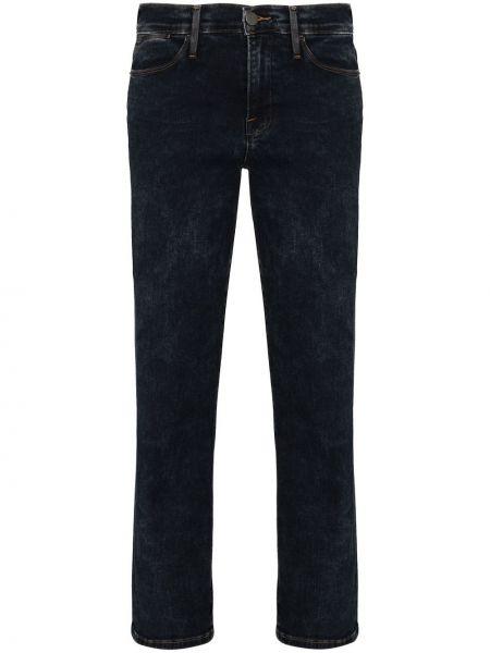 Синие зауженные укороченные джинсы стрейч Frame