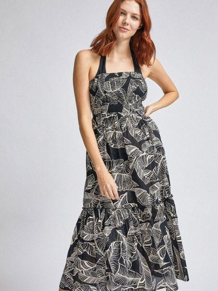 Пляжное платье черное платье-туника Dorothy Perkins