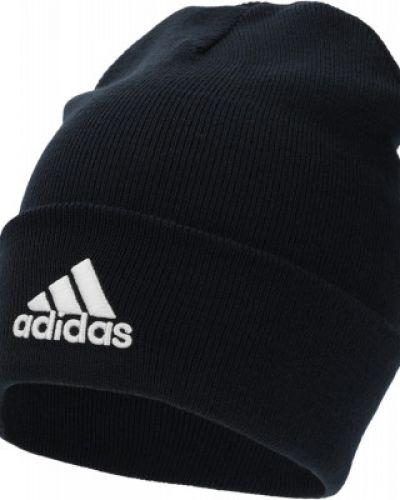Шапка с отворотом - синяя Adidas