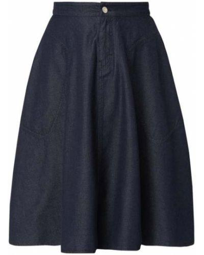 Niebieska spódnica jeansowa bawełniana Drykorn