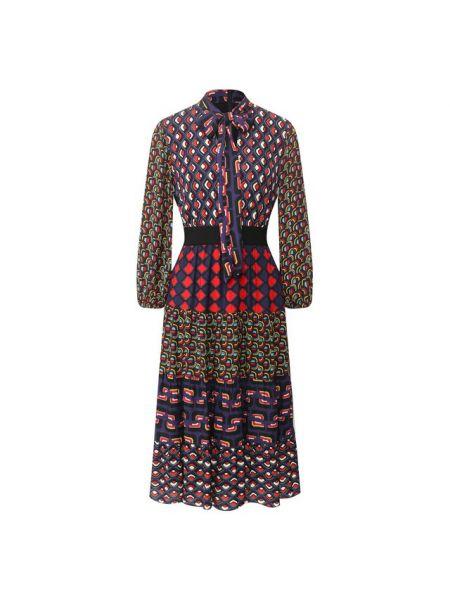 Платье со складками из вискозы Alice + Olivia