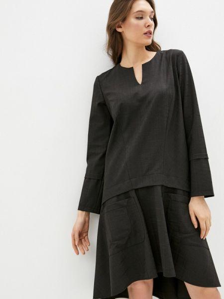 Повседневное коричневое платье Adzhedo