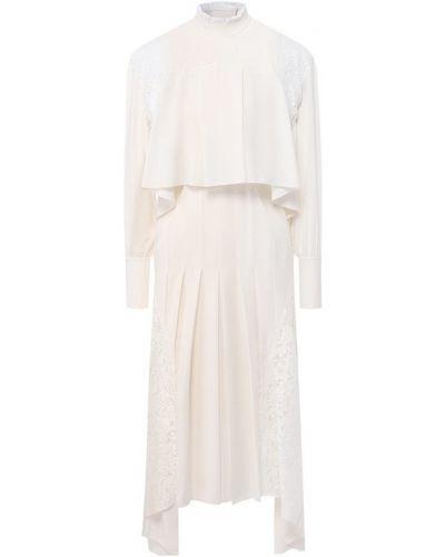 Платье миди со вставками шелковое Chloé