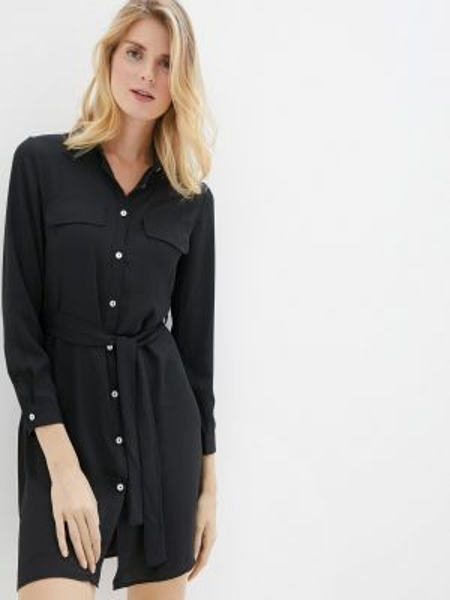 Платье платье-рубашка черное Perfect J