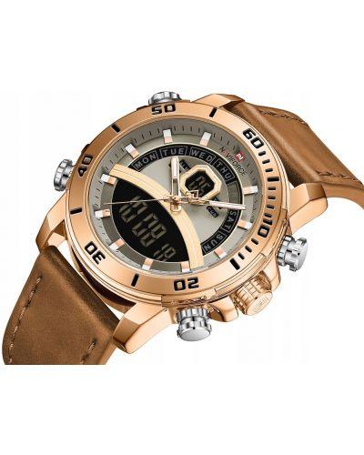 Brązowy złoty zegarek sportowy Naviforce