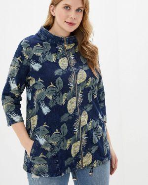 Джинсовая куртка осенняя синий Milanika