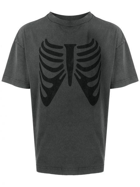 Bawełna bawełna czarny t-shirt Palm Angels