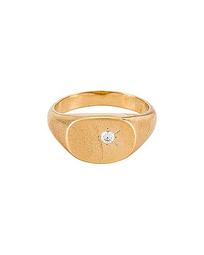 Złoty pierścionek pozłacany z cyrkoniami Miranda Frye