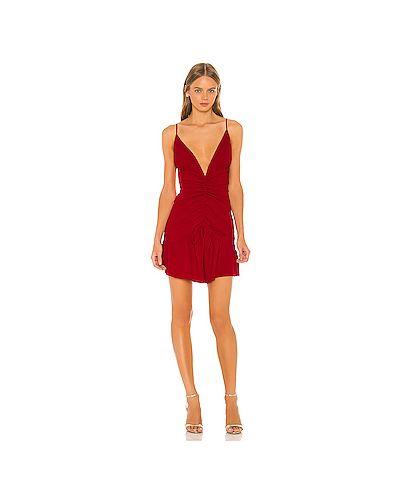 Платье мини на молнии красный Nbd