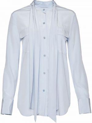 Шелковая блузка - синяя Equipment