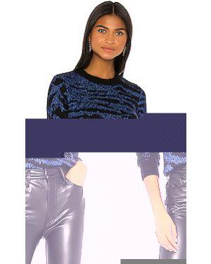 Синий свитер с люрексом Pam & Gela