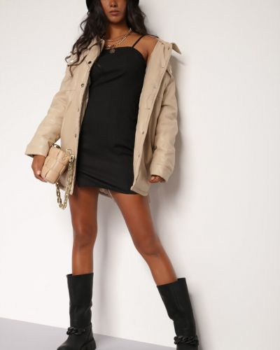 Beżowa kurtka z wiązaniami Renee