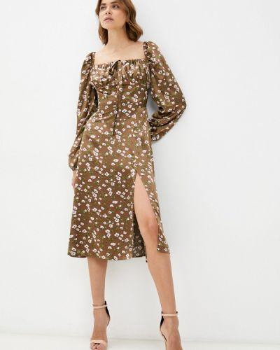 Прямое платье - коричневое Imocean
