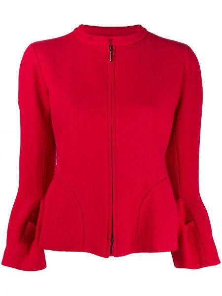 Куртка на молнии красная Emporio Armani