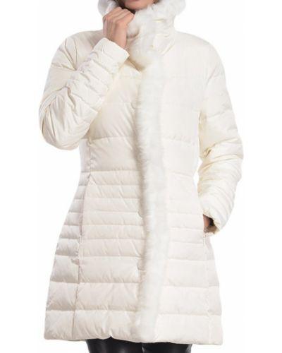 Пуховик с перьями - белый Armani Jeans