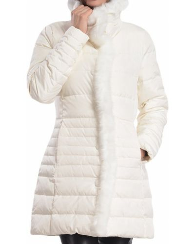 Белый пуховик Armani Jeans